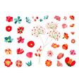 Flowers Decoration set vector image