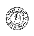 handcrafted hand-made badge vector image vector image