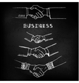 handshake on black vector image