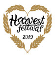 harvest festival 2019 text vector image vector image