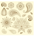 Henna tattoo doodle elements vector image vector image