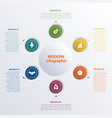 infographic template six option circles banner vector image