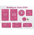 Invitation Save the Date Card Set - for Wedding vector image vector image