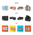 isolated object of facade and housing icon vector image vector image