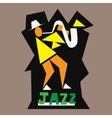 jazz musician logo vector image vector image