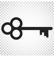 key icon key flat simple business concept vector image