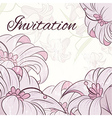 lily design card vector image vector image