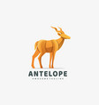 logo deer gradient colorful style vector image vector image