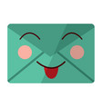 message envelope kawaii icon image vector image vector image