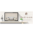 modern bedroom interior design background vector image vector image