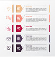 modern color infographic template vector image vector image