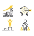 Motivations icons set vector image vector image
