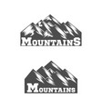 Mountain logo liner design logo vector image