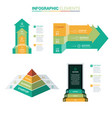 perspective arrow infographic vector image vector image