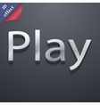 Play icon symbol 3D style Trendy modern design vector image vector image