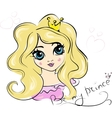 Portrait of Young Princess with Curly Hair vector image vector image