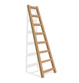 realistic ladder on a white background vector image vector image
