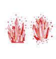 red crystal cartoon cute quartz vector image