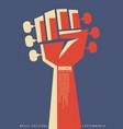 rock revolution creative poster idea vector image