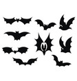 set bats collection bats flying bats vector image vector image