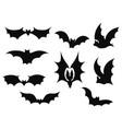 set bats collection bats flying bats vector image vector image