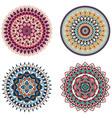 set color floral mandalas vector image vector image