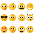 set of emotional face icons vector image vector image