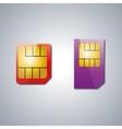 Set SIM card vector image vector image