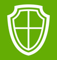 shield icon green vector image vector image