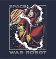 space war robot vector image vector image