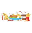 Tasty Fast Food Banner vector image vector image
