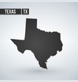 texas map isolated on transparent background vector image vector image