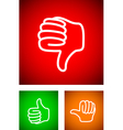 thumbs down vector image vector image