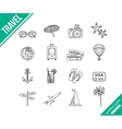 Travel outline icons set vector image vector image