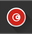 tunisia national flag on dark background vector image vector image