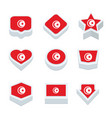 turkey flags icons and button set nine styles vector image