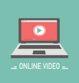 video online design in flat style vector image