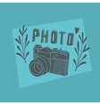 Vintage label with photo camera vector image vector image