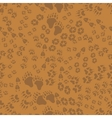 Seamless pattern of animal trails vector image