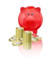 Piggy moneybox vector image
