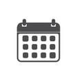 calendar icon flat web mobile icon vector image
