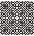 Seamless Black and White Mosaic Lattice vector image