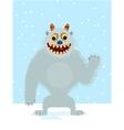 Yeti cartoon vector image