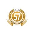 57 years ribbon anniversary vector image vector image