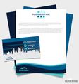Abstract creative business paper template and vector image vector image