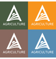 agriculture monogram vector image vector image