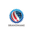 american industry logo template vector image vector image