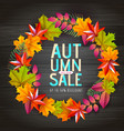 autumn big sale typography poster with leaves vector image