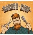 Barber shop poster Hipster vector image