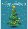 beautiful christmas tree vector image vector image